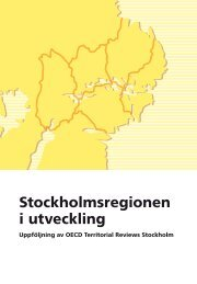 Stockholmsregionen i utveckling - SLL Tillväxt, miljö och ...