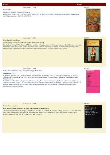 Sixties Sixties - Antiquariaat Clio / Cliobook