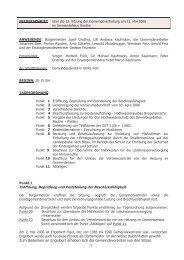 Eröffnung, Begrüßung und Feststellung der Beschlussfähigkeit Zum ...