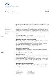 INSTITUT FOR ODONTOLOGI NOTAT - Medarbejdere - Institut for ...