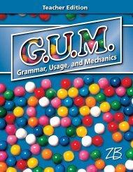 Grammar, Usage, and Mechanics - Zaner-Bloser