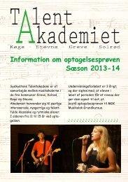 Information om optagelsesprøven Sæson 2013-14 - Solrød Kommune