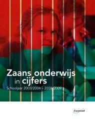 Zaans onderwijs in cijfers - Kohnstamm Instituut - Universiteit van ...
