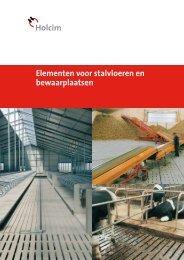 Elementen voor stalvloeren en bewaarplaatsen - Holcim