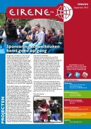 Sponsoring schoolkeuken komt goed op gang - Eirene-NL