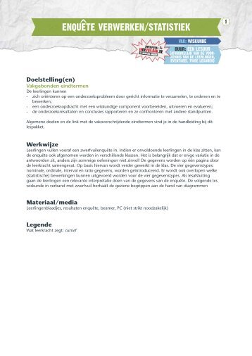 Enquête verwerken/statistiek - Indevuilbak