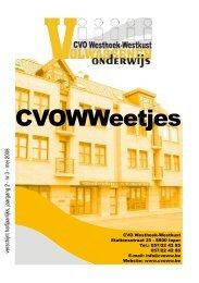 CVOWWeetjes, jaargang 2, nr.3, mei 2008 - CVO Westhoek-Westkust
