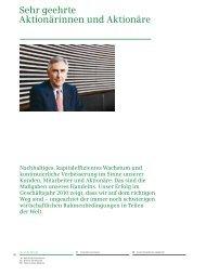 Siemens-Geschäftsbericht 2010, Brief an die Aktionäre