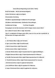 Referat for Generalforsamling Lørdag d. 12. Februar - FSAS