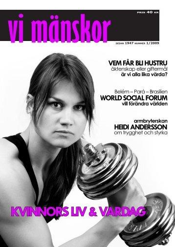 färdig tidning 1-09.indd - Vi Mänskor