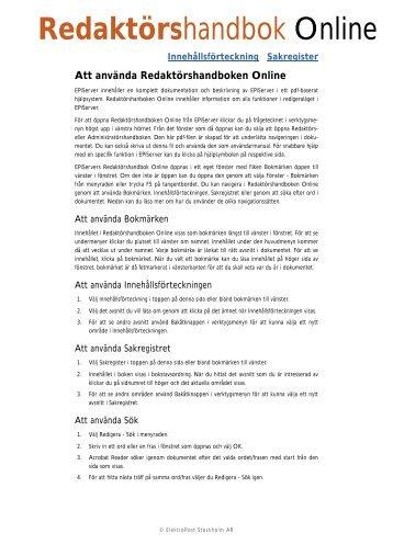 Redakt.rshandbok EPiServer 4 - EPiServer World