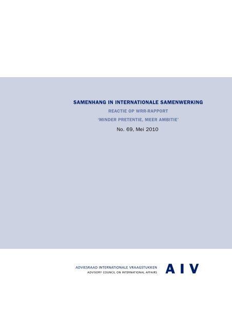 titelpag. AIV_69 - Adviesraad Internationale Vraagstukken