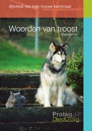 Woorden van troost - Proteq Dier & Zorg