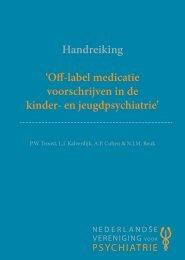 Off-label medicatie voorschrijven in de kinder- en jeugdpsychiatrie