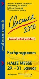 Fachprogramm HALLE MESSE 29.– 31. Januar - Chance - Halle ...