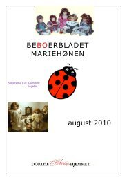 BEBOERBLADET MARIEHØNEN august 2010 - Mariehjemmene