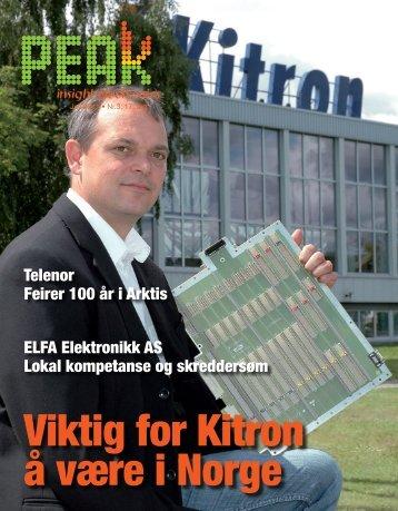 Telenor Feirer 100 år i Arktis ELFA Elektronikk AS ... - Peak Magazine