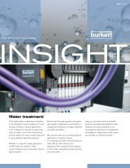 Download this issue in English - Bürkert Fluid Control Systems