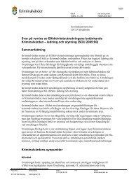 ledning och styrning (SOU 2009:80) - Kriminalvården