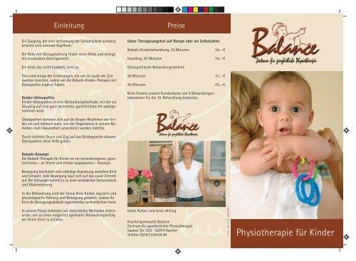 Physiotherapie für Kinder - Herzlich willkommen bei Balance in ...