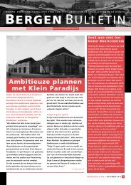 Bergen Bulletin september 2012 - Stichtingdebergen