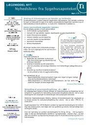 Lægemiddel Nyt 201303 - Sygehusapoteket - Region Nordjylland
