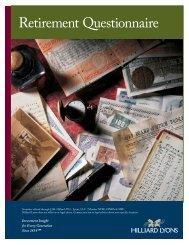 Retirement Questionnaire - Hilliard Lyons