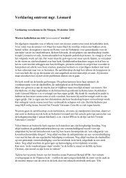 Verklaring omtrent mgr. Léonard door IPB - OLV-ten-Poel