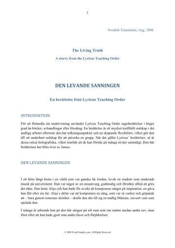 DEN LEVANDE SANNINGEN - Wingmakers.se