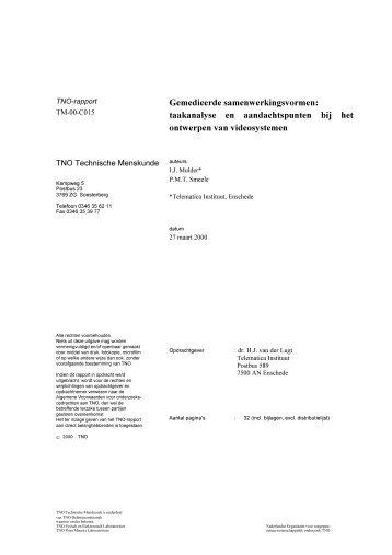 Gemedieerde samenwerkingsvormen: taakanalyse en ...