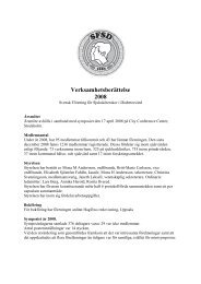 Verksamhetsberättelse 2008