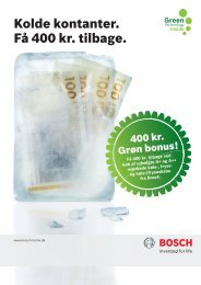 Kolde kontanter. Få 400 kr. tilbage. - Bosch