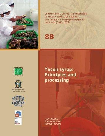 Yacon syrup: Principles and processing