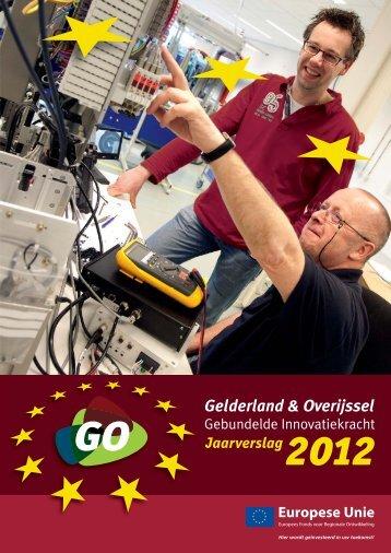 GO EFRO jaarverslag 2012 - GO Gebundelde Innovatiekracht