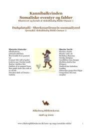 Kannibalkvinden Somaliske eventyr og fabler - Silkeborg Bibliotekerne