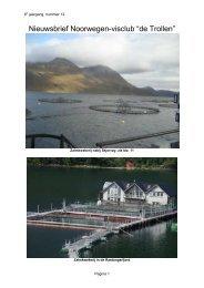 """Nieuwsbrief Noorwegen-visclub """"de Trollen"""" - Hengelsport Meijvogel"""