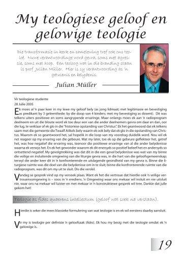 My teologiese geloof en gelowige teologie