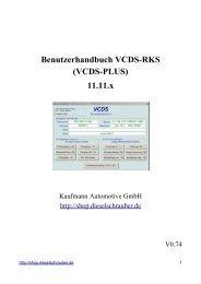Benutzerhandbuch VCDS-RKS - KFZ-Diagnosesysteme ...