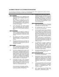 algemene verkoop- en leveringsvoorwaarden (ALV) - Pronk ergo