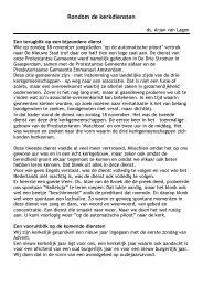 Rondom de kerkdiensten - Protestantse Gemeente te Amsterdam ...