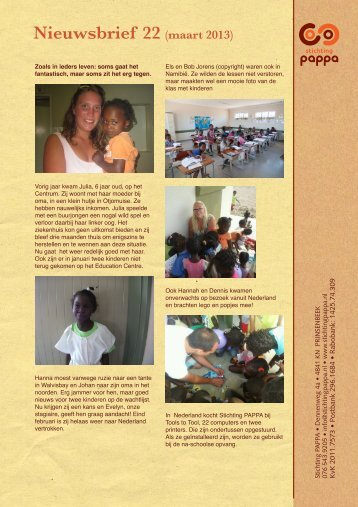 Nieuwsbrief 22 - Stichting PAPPA
