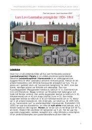 Administratörens utredning om pastorboställena ... - laestadiusarkivet