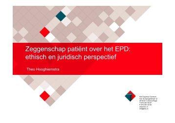 Zeggenschap patiënt over het EPD - Centrum voor Ethiek en ...
