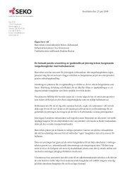 Öppet brev till Banverkets Generaldirektör Minoo Akhtarzand ... - Seko