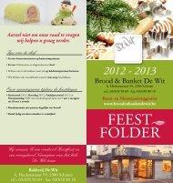 2012 - 2013 - Brood en banket De Wit