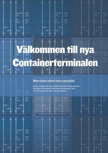 Välkommen till nya Containerterminalen - Norrköpings Hamn & Stuveri