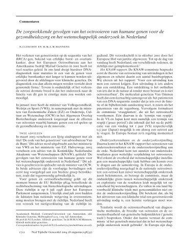 Nederlands Tijdschrift Geneeskunde - Federa