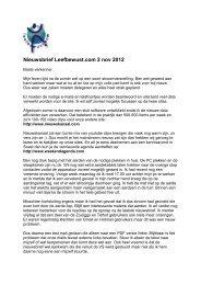 Nieuwsbrief Leefbewust.com 2 nov 2012