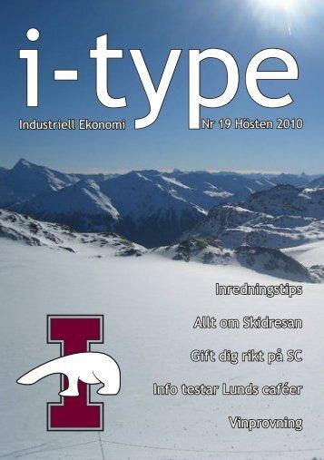 I-type 19 - Sektionen för Industriell ekonomi vid Lunds Tekniska ...