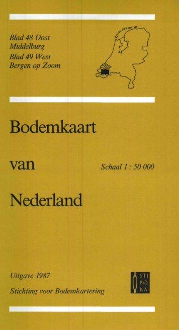 toelichting bodemkaart blad 48O-49W - t Zeeuws Bodemvenster ...